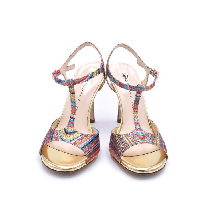 Fedra - Gold Glitter Rainbow 70, 80, 85, 105-Madame Pivot- Axis Tango - Best Tango Shoes
