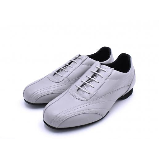 Sneaker - Grey Leather | Axis Tango - Best Tango Shoes
