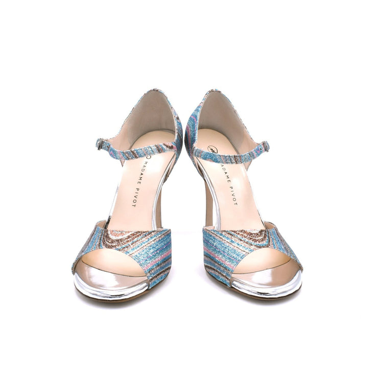 Daisy - Silver Glitter Rainbow 70, 80, 85, 105-Madame Pivot- Axis Tango - Best Tango Shoes