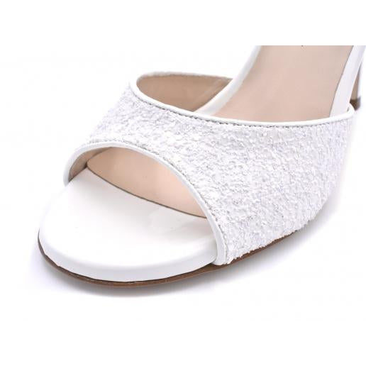 Charlene DUS - White Glitter (7cm, 8cm, 8.5cm) | Axis Tango - Best Tango Shoes