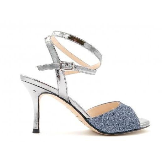 Charlene DUS - Pewter Glitter 70 - FINAL SALE-Madame Pivot- Axis Tango - Best Tango Shoes