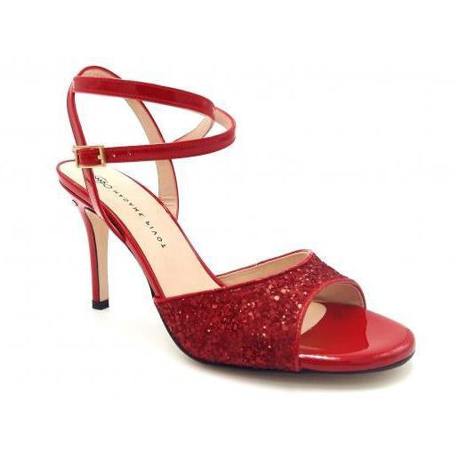 Charlene DUS - Red Glitter (7cm, 8cm, 8.5cm) | Axis Tango - Best Tango Shoes