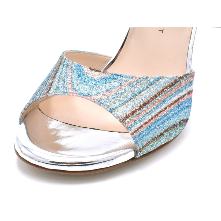 Chantal DUS - Silver Glitter Rainbow 85, 105-Madame Pivot- Axis Tango - Best Tango Shoes