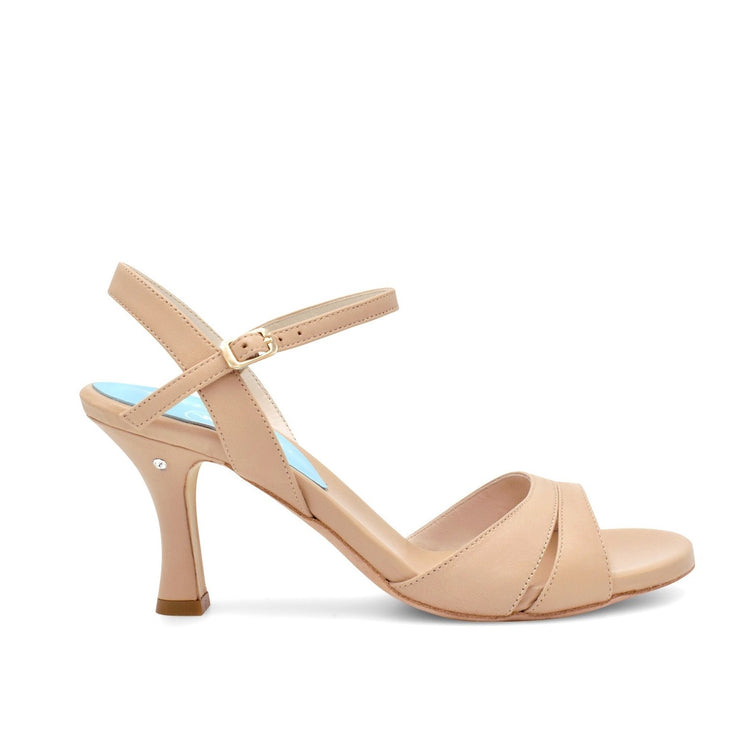 Rallies - Nude Leather (7cm) | Axis Tango - Best Tango Shoes