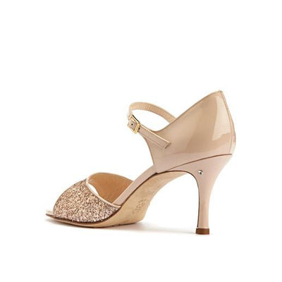 Daisy - Light Pink Glitter (7cm, 8cm, 8.5cm) by Madame Pivot - Imported from Italy, Argentina and beyond: best tango shoes and tango apparel. Beautiful, comfortable, premium quality!