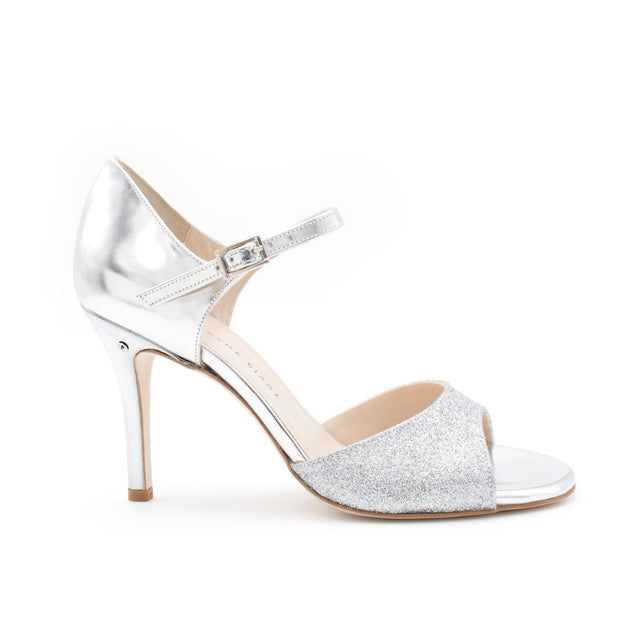 Daisy - Silver Glitter-Madame Pivot- Axis Tango - Best Tango Shoes