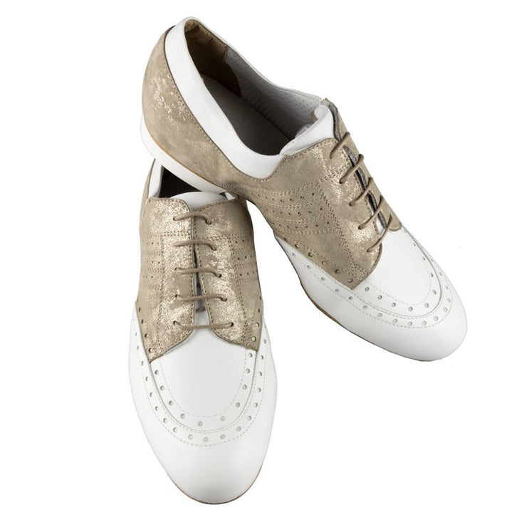 502 - Gold White | Axis Tango - Best Tango Shoes