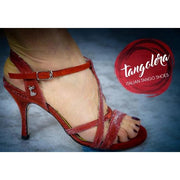 Bari - Iridescent Red 80 | Axis Tango - Best Tango Shoes