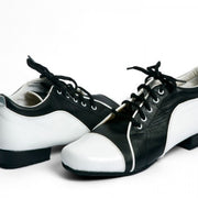 Arrabal - Black and White Leather 20-DNI- Axis Tango - Best Tango Shoes
