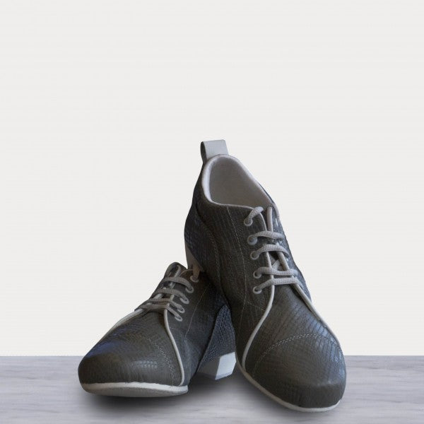 Arrabal - Gray Stamped Leather 20-DNI- Axis Tango - Best Tango Shoes