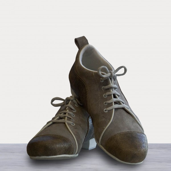 Arrabal - Gray Suede and Brown Leather 20-DNI- Axis Tango - Best Tango Shoes