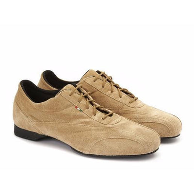 Sneaker - Beige Suede by Monsieur Pivot - Axis Tango imported tango shoes and tango apparel for Argentine Tango; beautiful, comfortable, best quality