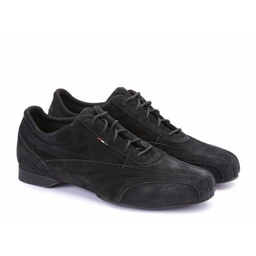 Sneaker - Black Suede by Monsieur Pivot - Imported from Italy, Argentina and beyond: best tango shoes and tango apparel. Beautiful, comfortable, premium quality!