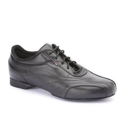 Sneaker - Black Leather by Monsieur Pivot - Imported from Italy, Argentina and beyond: best tango shoes and tango apparel. Beautiful, comfortable, premium quality!