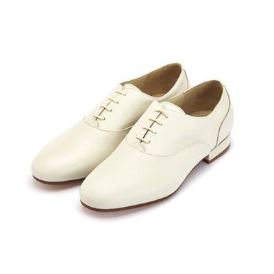 Francesina - Cream Leather by Monsieur Pivot - Imported from Italy, Argentina and beyond: best tango shoes and tango apparel. Beautiful, comfortable, premium quality!