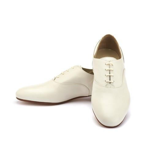 Francesina - Cream Leather | Axis Tango - Best Tango Shoes