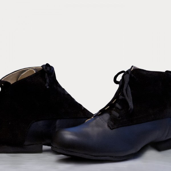 Gonchi - Black Leather With Suede 20-DNI- Axis Tango - Best Tango Shoes