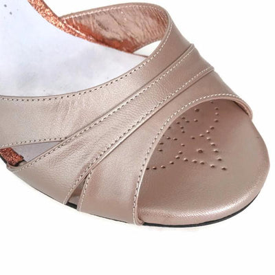Biella - Desert Leather (8cm) by Bandolera (now Tangolera) - Imported from Italy, Argentina and beyond: best tango shoes and tango apparel. Beautiful, comfortable, premium quality!
