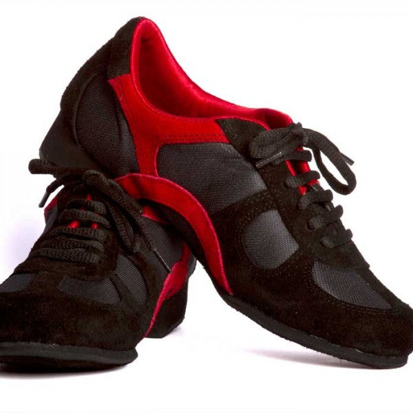 Adri - Red And Black Suede 20-DNI- Axis Tango - Best Tango Shoes
