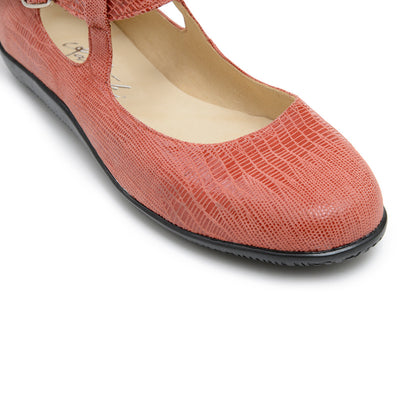 Alani - Burnt Sienna Leather by Katrinski - Imported from Italy, Argentina and beyond: best tango shoes and tango apparel. Beautiful, comfortable, premium quality!
