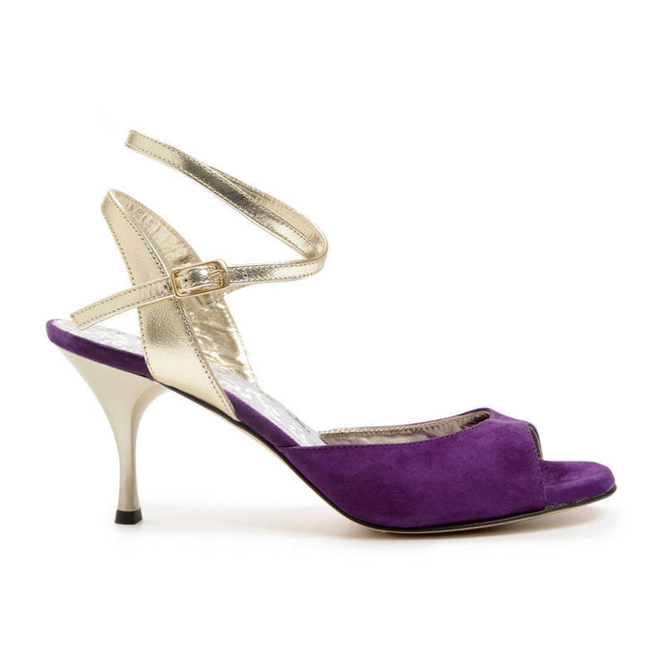 Enna CL - Plum Suede & Laminated Leather (9cm) - Axis Tango | Best Tango Shoes