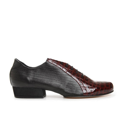 Abasto FLEX Lagarto Negro y Charol Croco Bordo by 2x4 al pie - Imported from Italy, Argentina and beyond: best tango shoes and tango apparel. Beautiful, comfortable, premium quality!