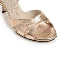 Novara - Copper Metallic Leather (7cm)