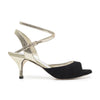 Enna CL - Black Suede & Platinum Leather (6cm)