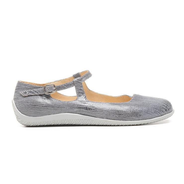 Cadet Quartz - Grey Stamped Leather - FINAL SALE by Katrinski - Imported from Italy, Argentina and beyond: best tango shoes and tango apparel. Beautiful, comfortable, premium quality!