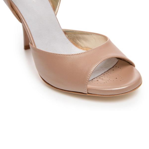 Enna CL - Pearl Taupe Leather (7cm)