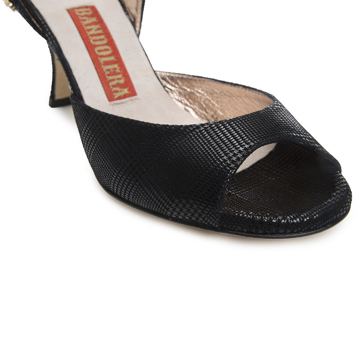 "Asti - ""Scottish"" Pattern Leather (9cm) by Bandolera (now Tangolera) - Imported from Italy, Argentina and beyond: best tango shoes and tango apparel. Beautiful, comfortable, premium quality!"