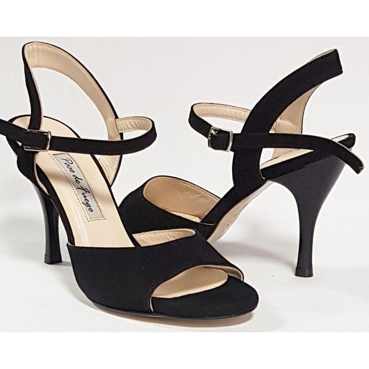 Corrientes - Black Suede 50, 60, 70, 80-Paso de Fuego- Axis Tango - Best Tango Shoes