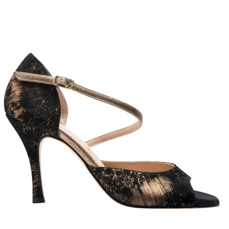 Chloe - Black & Gold-Cardou- Axis Tango - Best Tango Shoes