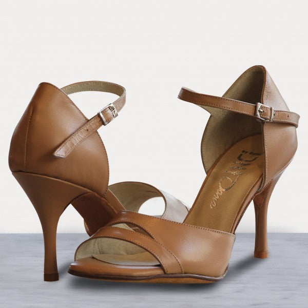 Dana - Caramel Leather 75-DNI- Axis Tango - Best Tango Shoes