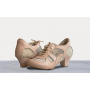 Rocio - Blush Leather With Gold Lace 50-DNI- Axis Tango - Best Tango Shoes