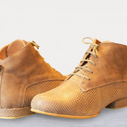 Gonchi - Caramel Suede and Stamped Leather 20-DNI- Axis Tango - Best Tango Shoes