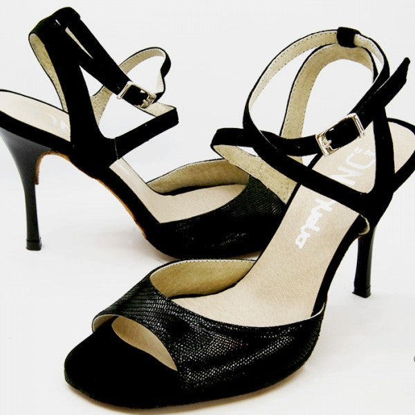 Ema - Black Suede 75-DNI- Axis Tango - Best Tango Shoes