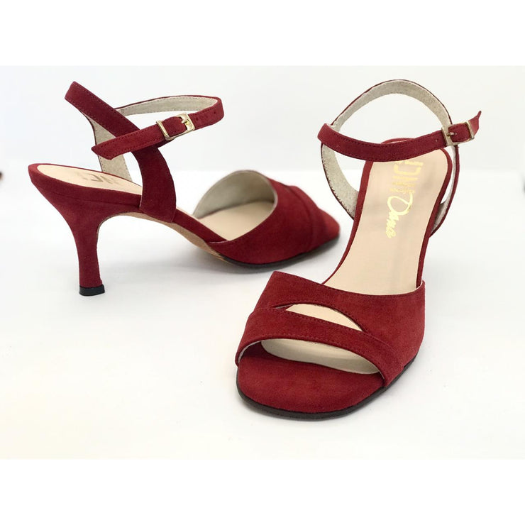 Dana - Bordeaux Suede 65-DNI- Axis Tango - Best Tango Shoes