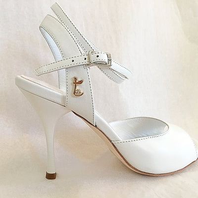 Enna CL - White Nappa Leather (9cm)