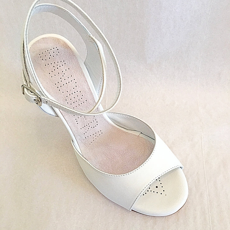 Enna CL - White Nappa Leather (9cm) | Axis Tango - Best Tango Shoes