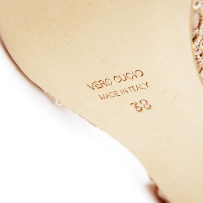 Messina - Iridescent Bronze Metallic Leather (7CM) by Bandolera (now Tangolera) - Imported from Italy, Argentina and beyond: best tango shoes and tango apparel. Beautiful, comfortable, premium quality!