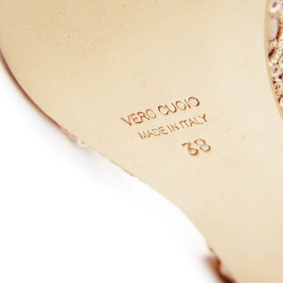Enna CL - Pink & Copper Leather (7cm) by Bandolera (now Tangolera) - Imported from Italy, Argentina and beyond: best tango shoes and tango apparel. Beautiful, comfortable, premium quality!