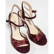 Corrientes - Bordeaux Suede And Leather 50, 60, 70, 80-Paso de Fuego- Axis Tango - Best Tango Shoes