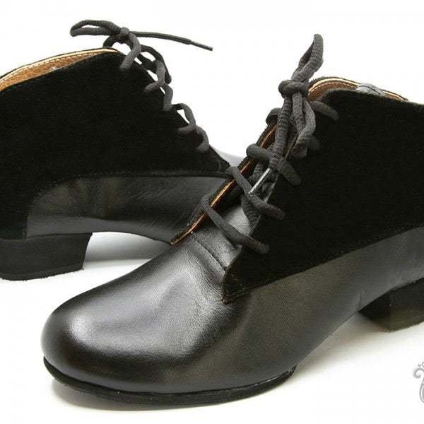 Tita - Black Suede And Leather 40-DNI- Axis Tango - Best Tango Shoes