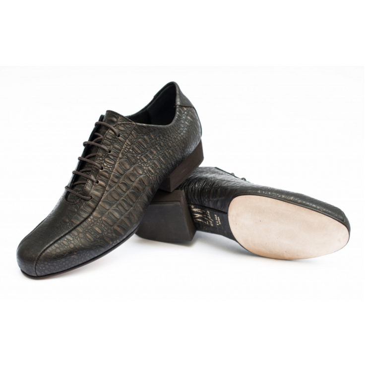 Villa Urquiza FLEX Croco Bronce | Axis Tango - Best Tango Shoes