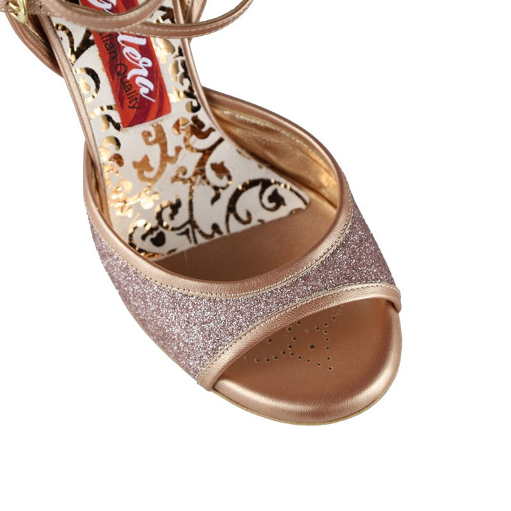 Enna CL - Copper Microglitter and Leather 70, 90-Tangolera- Axis Tango - Best Tango Shoes