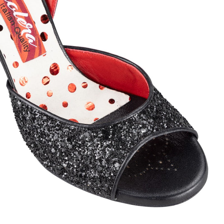 Asti G - Black Glitter 90 | Axis Tango - Best Tango Shoes