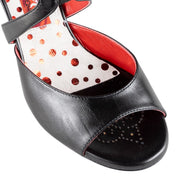Trapani - Smooth Black Leather (7cm) | Axis Tango - Best Tango Shoes