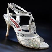 Monza - Grey Lux Leather (9cm) | Axis Tango - Best Tango Shoes