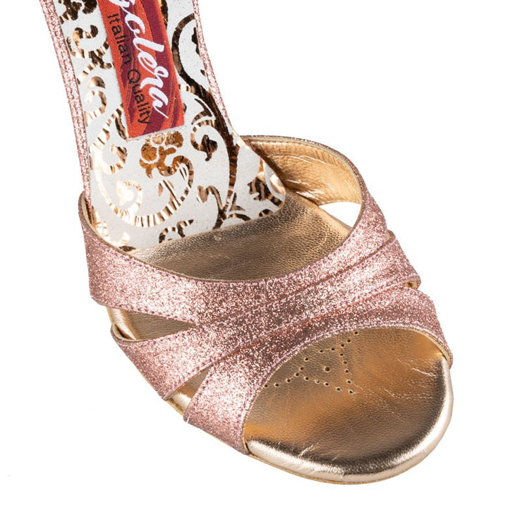 Biella - Rose Copper Glitter 90 | Axis Tango - Best Tango Shoes